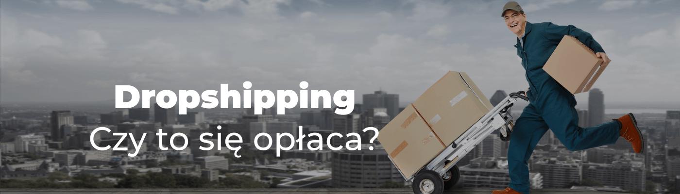 paczki kurier i napis  Dropshipping Czy to się opłaca?