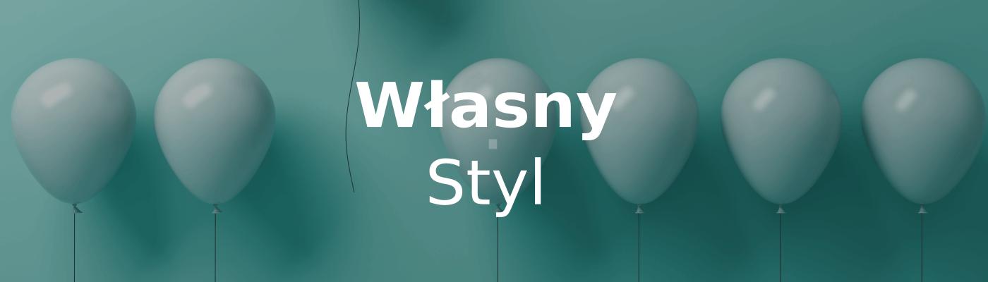 balony i napis własny styl strony www
