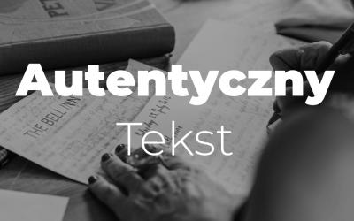 Jak pisać w autentyczny sposób