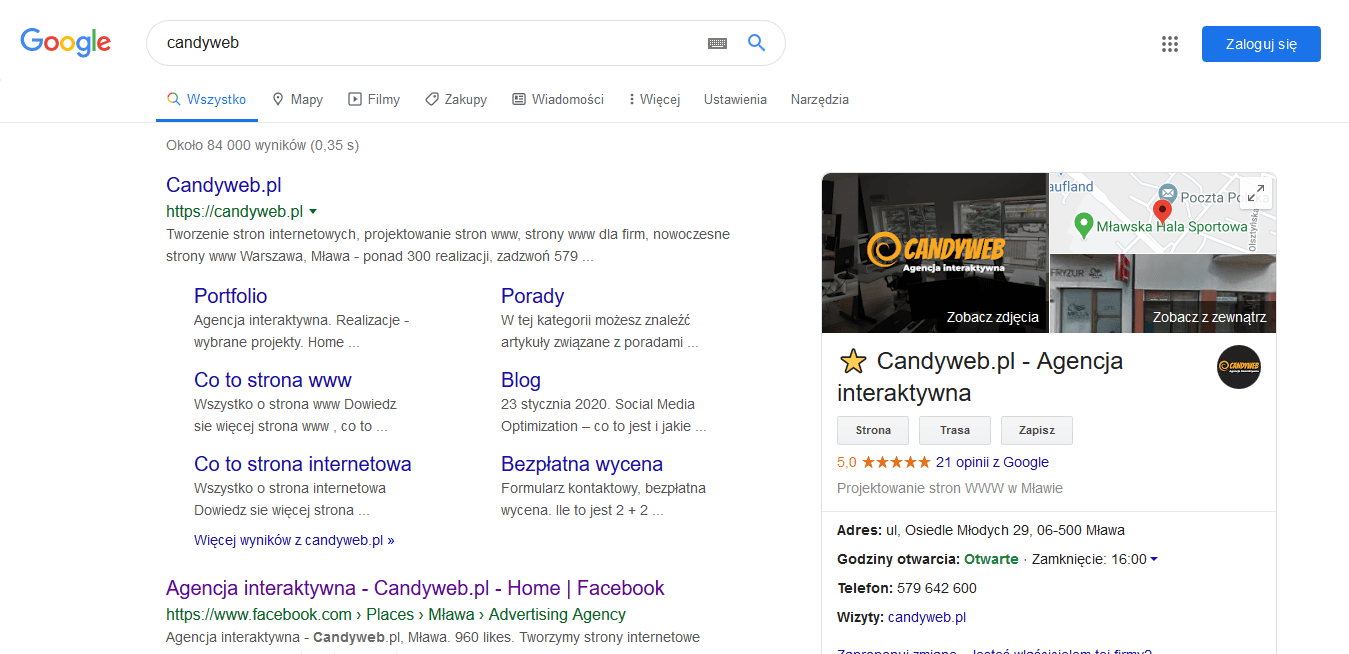 Google my business Candyweb