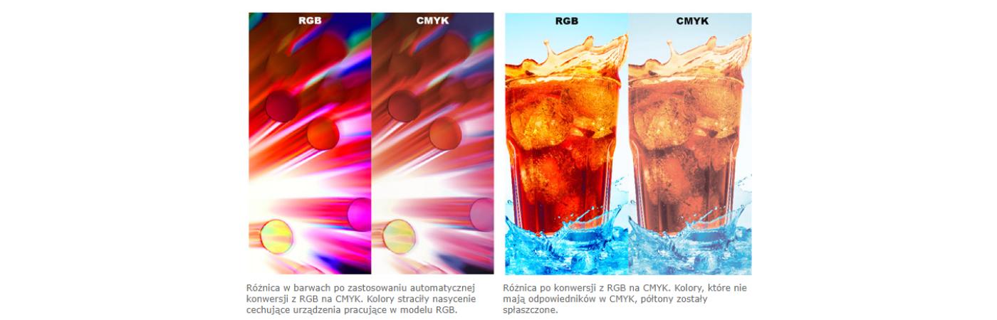 wpływ konwersji z rgb na cmyk na kolor