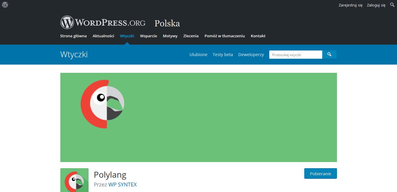 wtyczka językowa Polylang