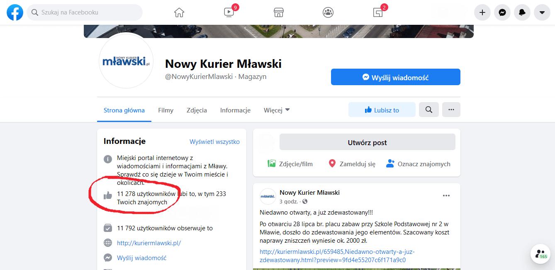 Nowy Kurier Mławski Facebooku
