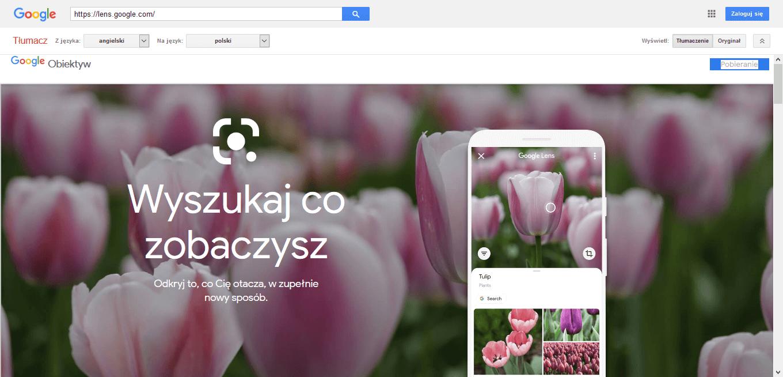 Możliowści Google Lens