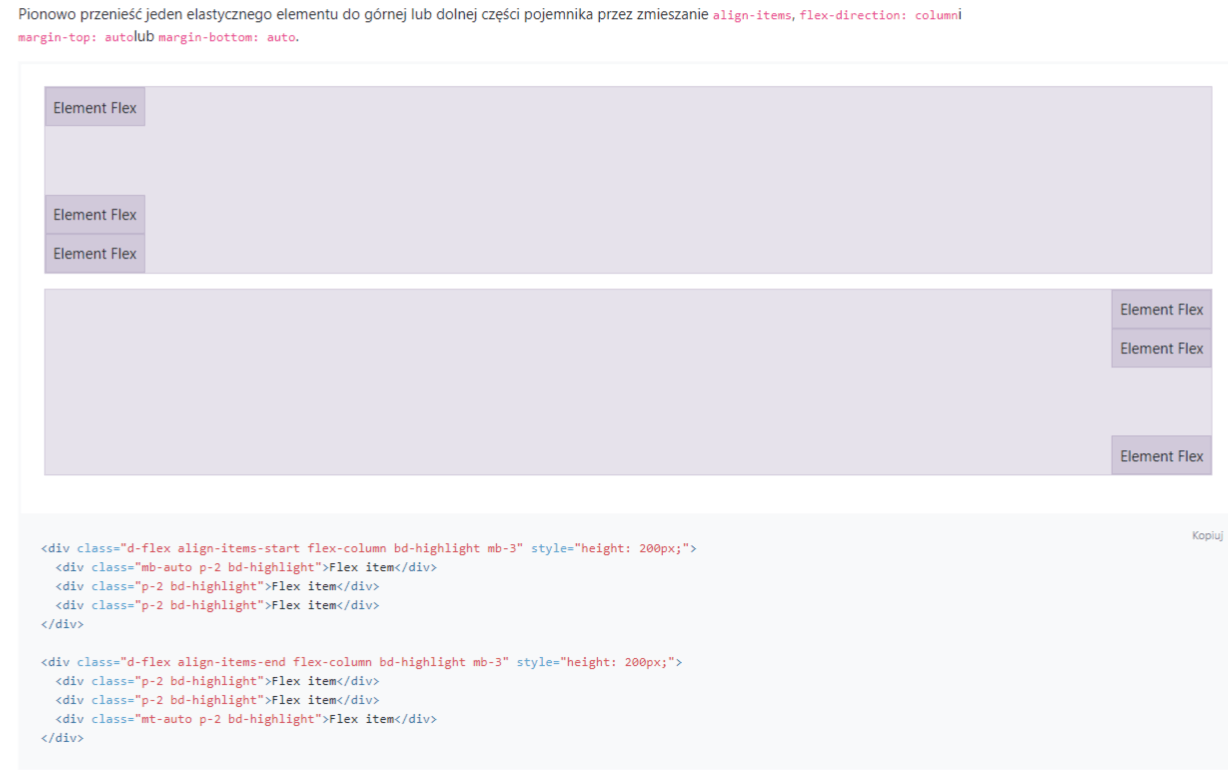bootstrap Align-items