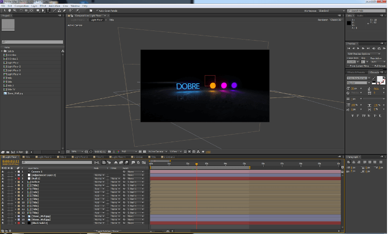 program do animacji Adobe After Effects