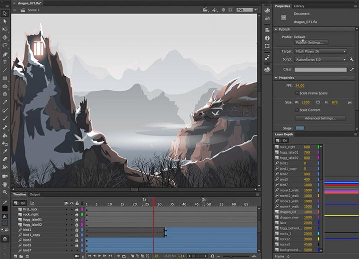 program do animacji Adobe Animate
