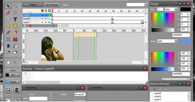 program do animacji Vectorian Giotto