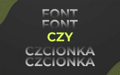 font czy czcionka