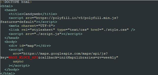 Klucz interfejsu API