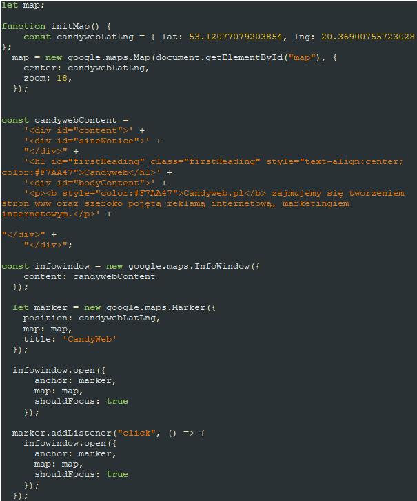 kod JavaScript